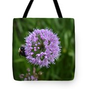 Purple And The Bee Tote Bag