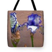 Purple And White Bearded Iris Bud Tote Bag
