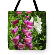 Purple And White Bell Flowers Tote Bag