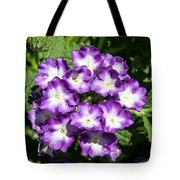 Purple And White Bouquet Tote Bag