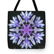 Purple And White Frosted Queen Mandala Tote Bag
