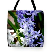 Purple And White Hyacinth Tote Bag
