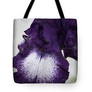 Purple And White Iris Bloom Tote Bag