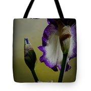 Purple And White Iris Flower Tote Bag