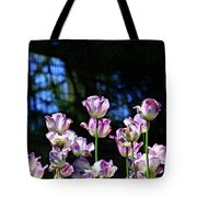 Purple And White Tulips - Photopainting Tote Bag