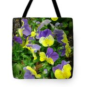 Purple And Yellow Pansies Tote Bag