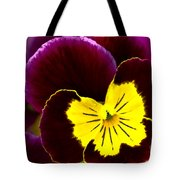 Purple And Yellow Pansy Tote Bag