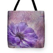 Purple Anemone Art Tote Bag