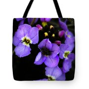 Purple Arctic Wild Flowers Tote Bag