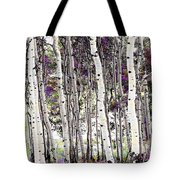 Purple Aspens Tote Bag