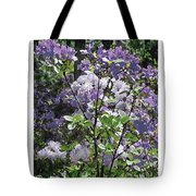 Purple Azaelas Tote Bag