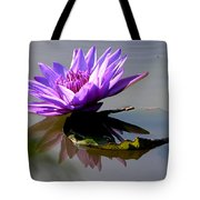 Purple Beauty On The Pond Tote Bag