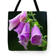 Purple Bells Horizontal Tote Bag