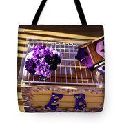 Purple Birdhouses 1 Tote Bag