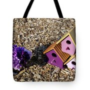 Purple Birdhouses 2 Tote Bag