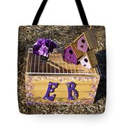 Purple Birdhouses 3 Tote Bag