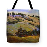 Purple Blooms And Oaks Tote Bag