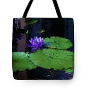 Purple Blue  Lily Tote Bag