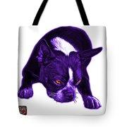Purple Boston Terrier Art - 8384 - Wb Tote Bag