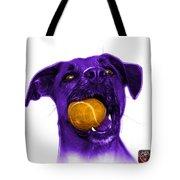 Purple Boxer Mix Dog Art - 8173 - Wb Tote Bag