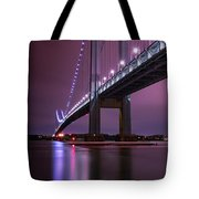 Purple Bridge Tote Bag