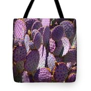 Purple Cacti Tote Bag