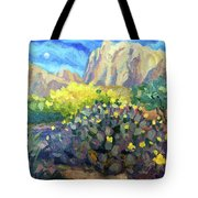 Purple Cactus With Yellow Flower Tote Bag