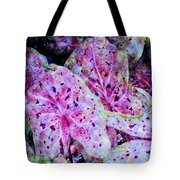 Purple Caladium Tote Bag