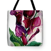 Purple Callas Tote Bag