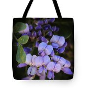 Purple Cascading Floral Art Tote Bag
