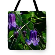 Purple Clamatis Bells Tote Bag