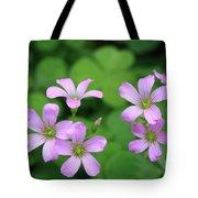Purple Clover Tote Bag