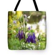 Purple Columbines Tote Bag