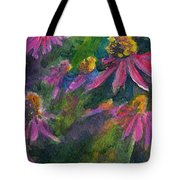 Purple Cone Flowers Outside Beye School Tote Bag