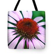 Purple Coneflower Close-up Tote Bag