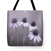 Purple Coneflowers And Dragonfly Tote Bag