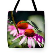 Purple Cones And Honey Bees Tote Bag