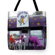 Purple Cow 1 Tote Bag