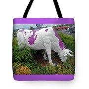 Purple Cow 4 Tote Bag