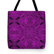 Purple Crossed Arrows Abstract Tote Bag