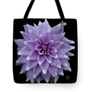 Purple Dahlia Cutout Tote Bag