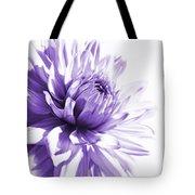 Purple Dahlia Floral Tote Bag