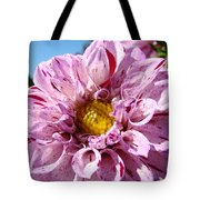 Purple Dahlia Flowers Pink Floral Art Prints Canvas Garden Baslee Troutman Tote Bag