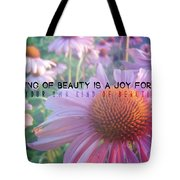 Purple Daisies Quote Tote Bag