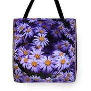 Purple Daisy Abstract Tote Bag