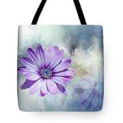 Purple Daisy Swirl Tote Bag