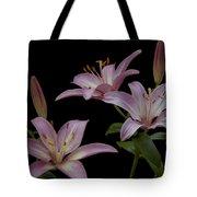 Purple Day Lilies Tote Bag