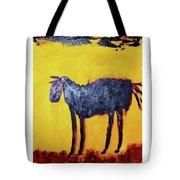 Purple Desert Donkey Tote Bag