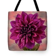 Purple Dhalia Tote Bag