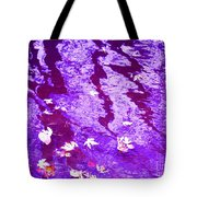 Purple Disturbances Tote Bag